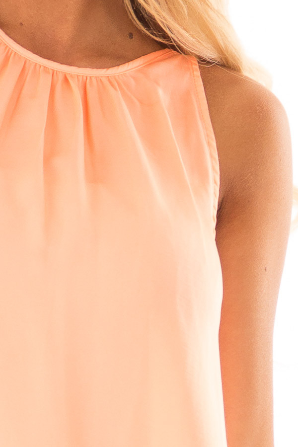 Creamsicle High Neck Tank Top detail