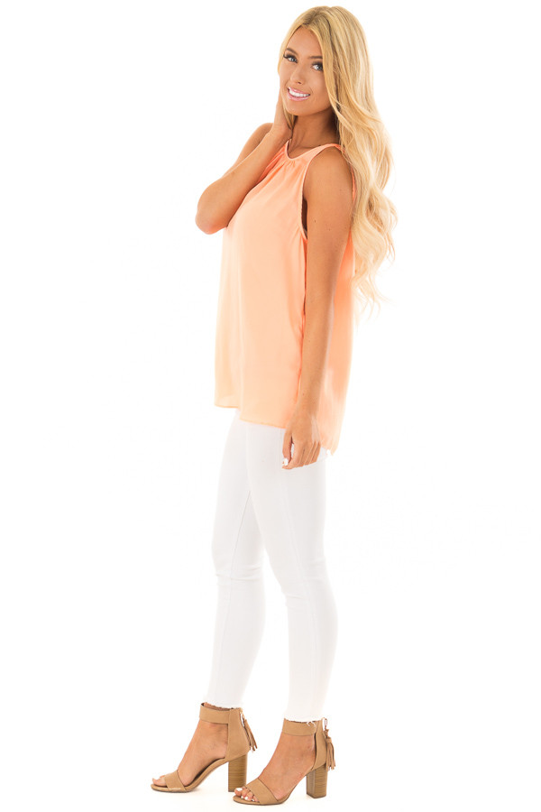 Creamsicle High Neck Tank Top side full body