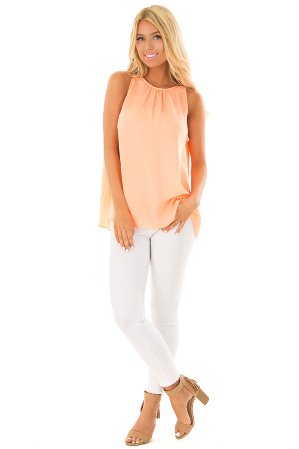 Creamsicle High Neck Tank Top front full body