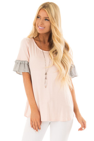 Jade Sleeveless Chiffon Top with Crochet Details front close up