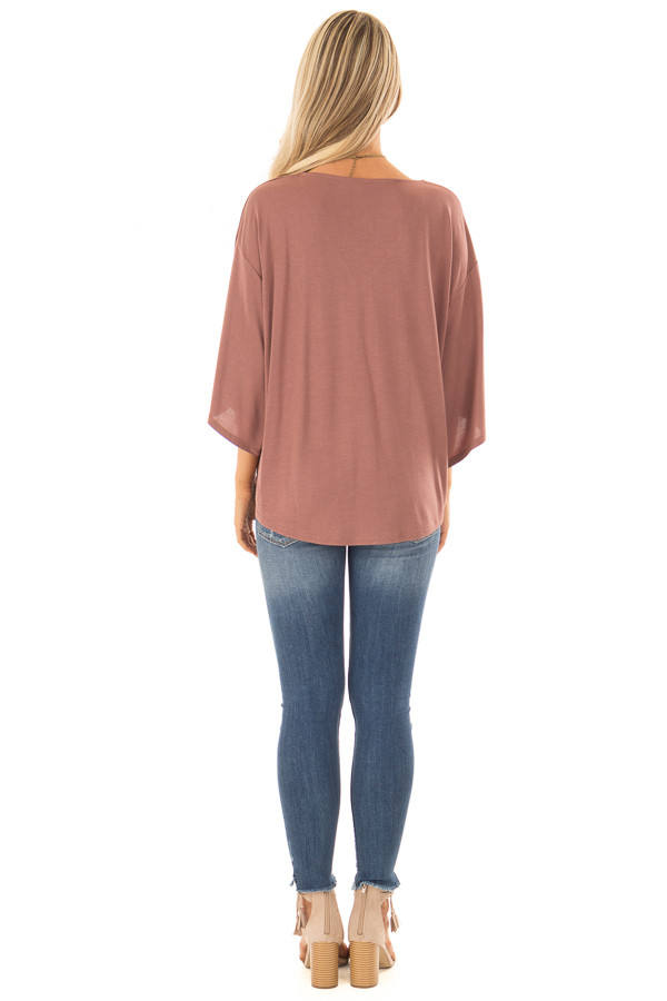 Cinnamon Half Sleeve Top with Front Tie back full body
