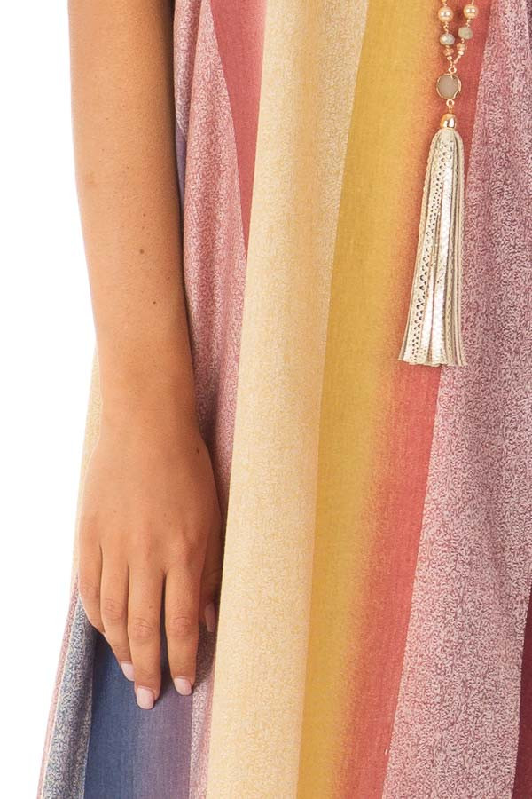 Multicolor Striped Cocoon Maxi Dress detail