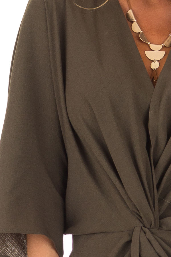 detailOlive Twisted Front Kimono Style Dress detail