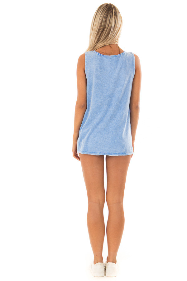 Chambray 'Vacation State of Mind' Graphic Tank Top back full body