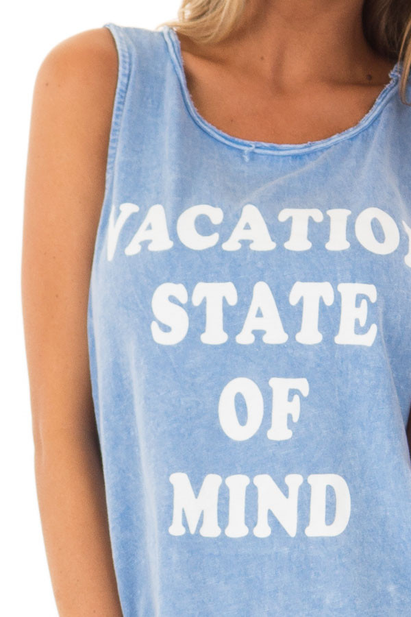 Chambray 'Vacation State of Mind' Graphic Tank Top detail