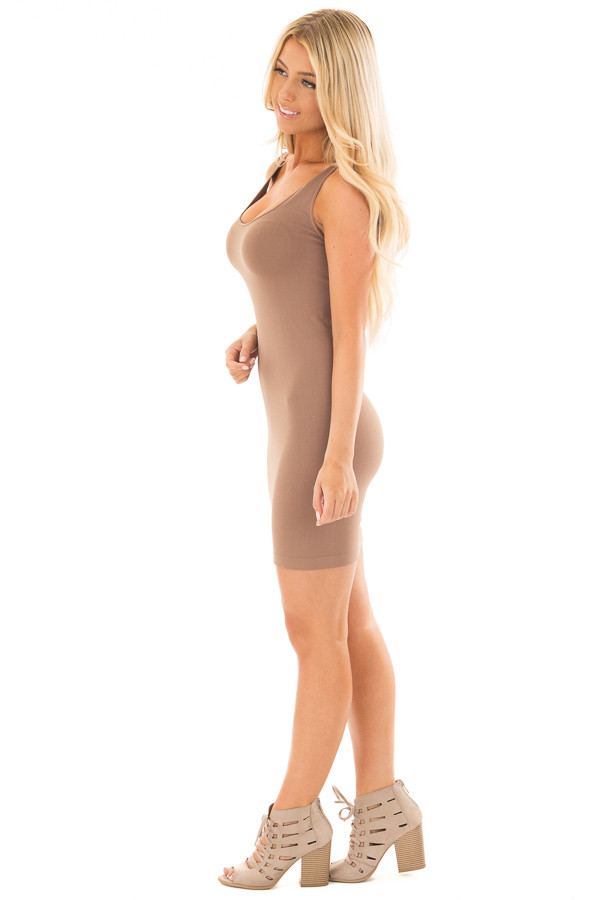 Taupe Seamless Tank Dress Undergarment side full body