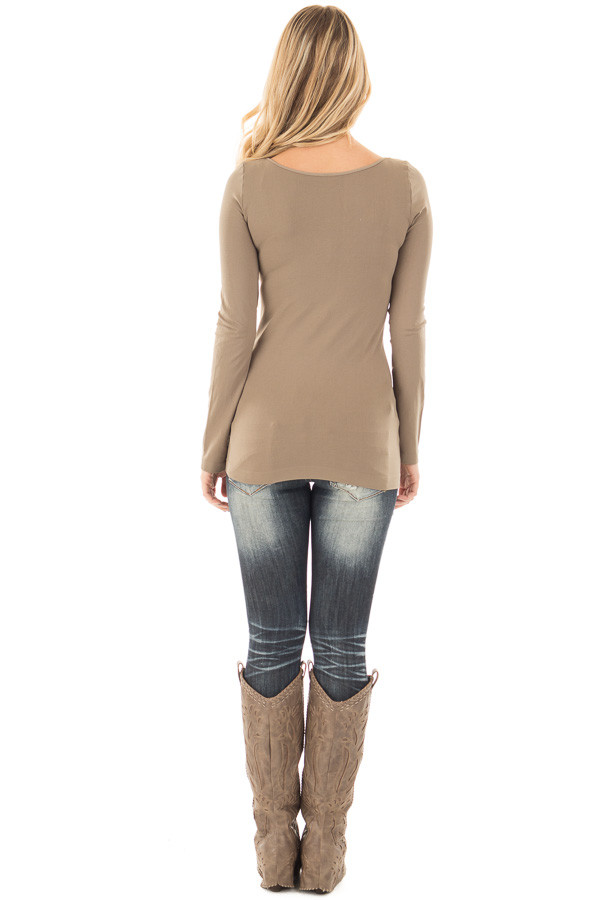 Ivy Seamless Long Sleeve Top back full body