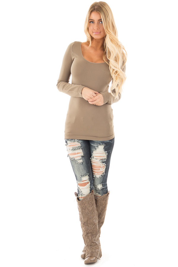 Ivy Seamless Long Sleeve Top front full body