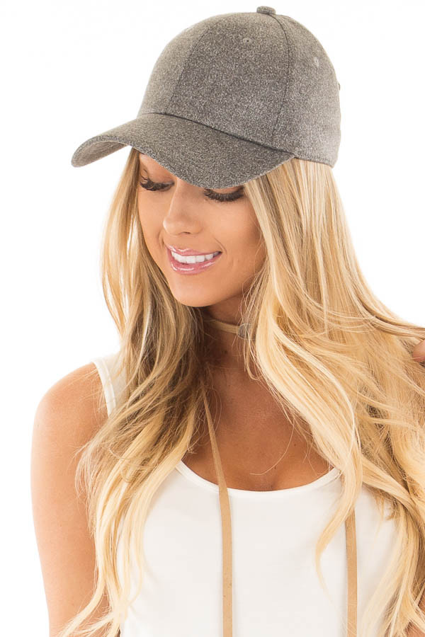 Ash Grey Soft Suede Baseball Cap with Adjustable Clasp Back