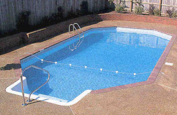 Grecian in ground swimming pool for Grecian pool dimensions