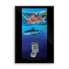 Ocean Series: The Kings of Rapa Nui - Framed poster