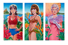 Dream Girls of the Islands (Three Painting Set)