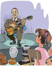 Jazz Musician Wes Montgomery - Poster