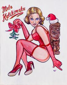Holiday Pinup: Mele Kalikimaka - Poster