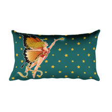 Faerie Series: Monarch Faerie - Rectangular Pillow
