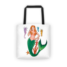 Mermaid Series: Redhead Mermaid - Tote bag