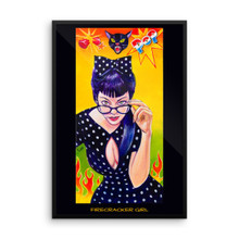 Firecracker Girl - Framed poster