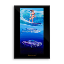 Ocean Series: Barracudas - Framed photo paper poster
