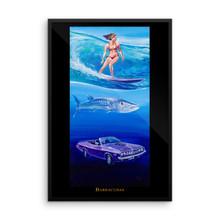 Ocean Series: Barracudas - Framed photo paper poster