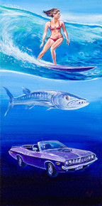 Oceans Series: Barracudas - Original Painting