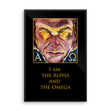 Revelation: I Am The Alpha and The Omega  - Framed poster