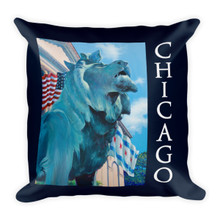Chicago Series: Lion on the Prowl - Premium Pillow