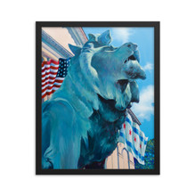 CHICAGO SERIES: LION ON THE PROWL - Framed poster