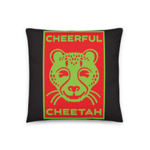 Cheerful Cheetah - Basic Pillow
