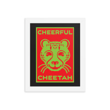 Cheerful Cheetah - Framed poster