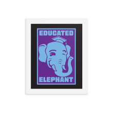 Educated Elephant - Framed poster