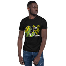 Put a Little Art In Your Life, Zombie Version; with Label - Short-Sleeve Unisex T-Shirt