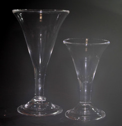 g164b  Large Trumpet Glass