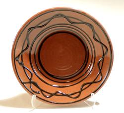 #696d Redware Deep Plate