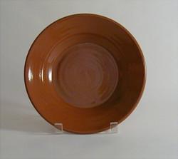 #59 e Plain Redware Deep Plate