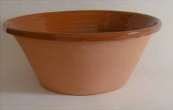 #57 e Plain Redware Bowl