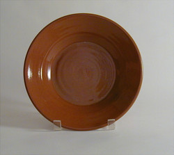 #59 a Plain Redware Deep Plate