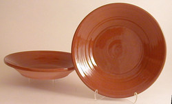 #79 a Small Redware Pie Plate or Shallow Pan