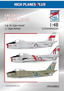 HPL048003 High Planes CAC 'Avon' Sabre Conversion 1:48