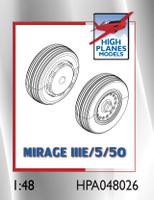 High Planes Dassault Mirage IIIE/O/5/50 wheels. Resin Accessories 1:48