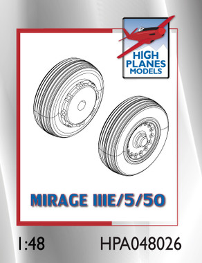 High Planes Dassault Mirage IIIE/O/5/50 wheels. Resin Accessories 1:48