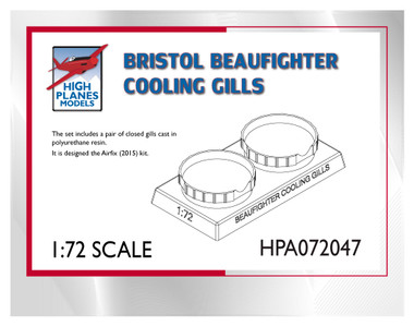 High Planes Bristol Beaufighter Cooling Gills Accessories 1:72