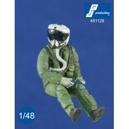 PJ Productions US Pilots with HMCS Helmet Figures 1:48 (PJP481128)