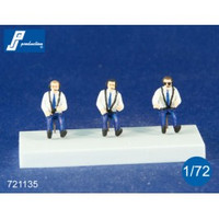 PJ Productions 3x Civilian pilots Figures 1:72 721135