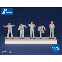PJ Productions 5x Ground Crew Figures 1:72
