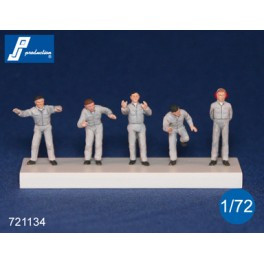 PJ Productions 5x Ground Crew Figures 1:72