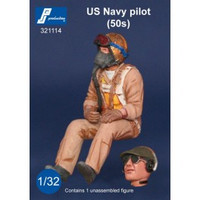 PJ Productions US Navy 1950s Pilot seated in aircraft Figure 1:32 PJP321114