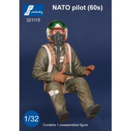 PJ Productions NATO 1960s Pilot seated in aircraft Figure 1:32 PJP321115
