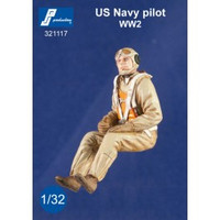 PJ Productions US Navy WW2 Pilot seated in aircraft Figure 1:32 PJP321117