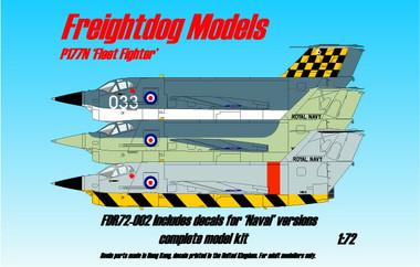 "Freightdog Saundersa-Roe P177N ""Fleet Fighter"" resin kit 1:72"