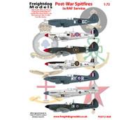 Freightdog Post-War Spitfires in RAF Service Decals 1:72